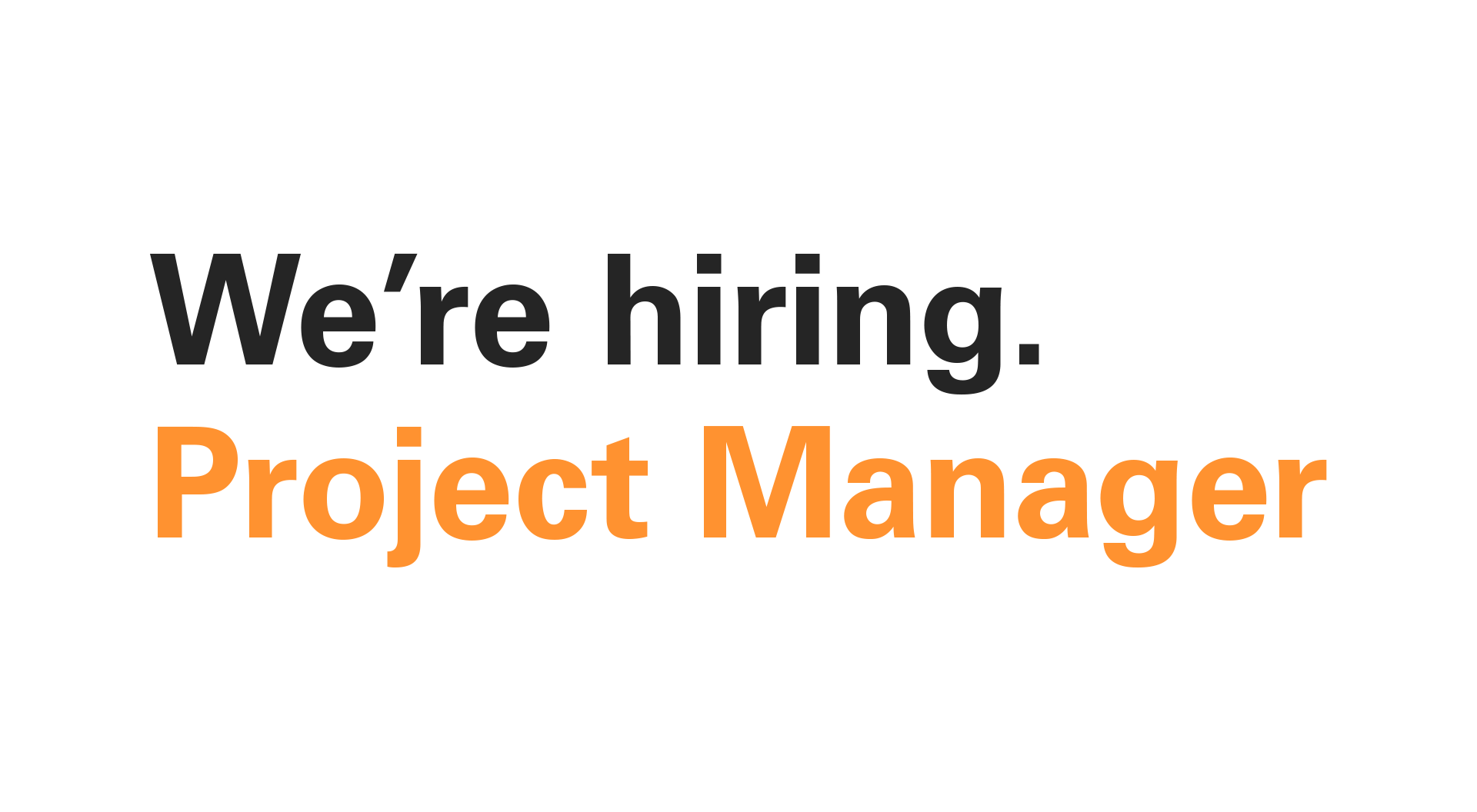 We Re Hiring Project Manager 400